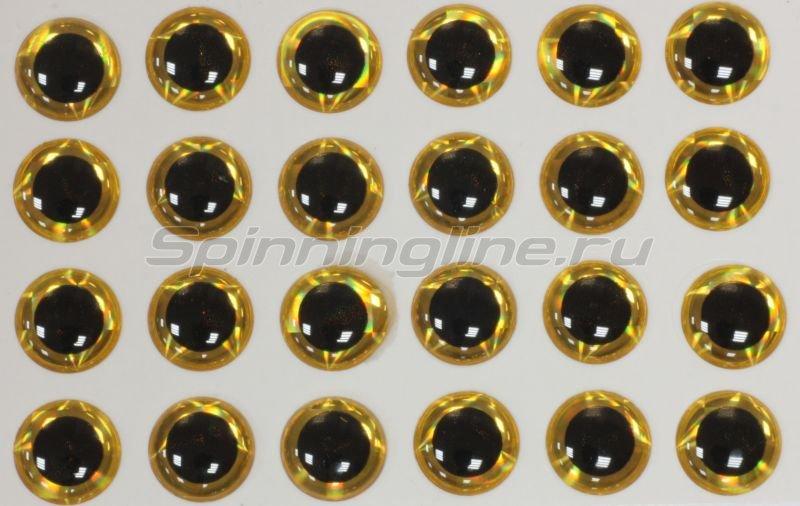 Stinger - Глазки 3D Eyes 3мм yellow - фотография 1