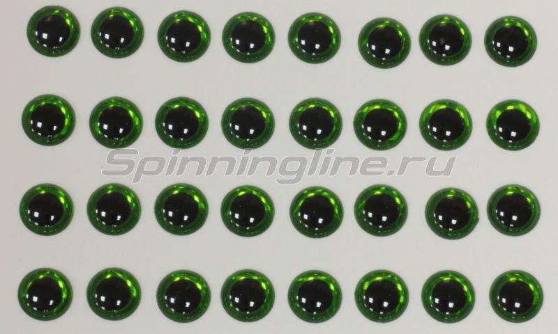 Глазки 3D Eyes 4мм green -  1