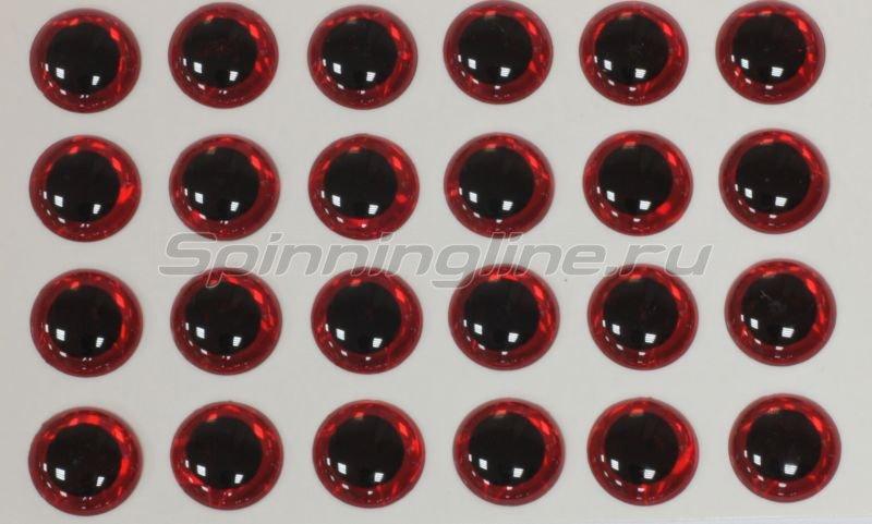 Глазки 3D Eyes 4мм red -  1