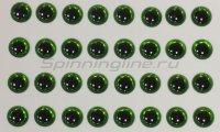 Глазки 3D Eyes 6мм green