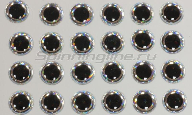 Глазки 3D Eyes 6мм silver -  1