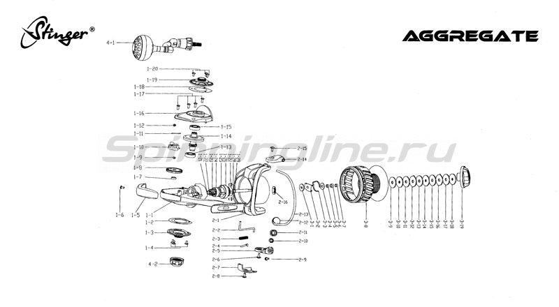 Stinger - Катушка Aggregate 4000 - фотография 3