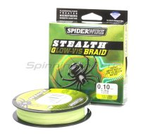 Шнур Spiderwire Stealth 137м 0,14мм Glow-Vis Braid