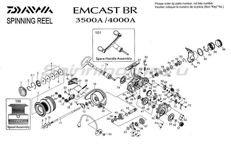 Daiwa - Катушка Emcast BR 4000A - фотография 4