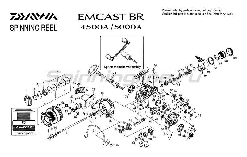 Daiwa - Катушка Emcast BR 5000A - фотография 4