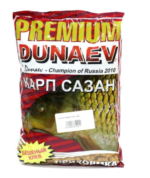 Прикормка Dunaev Pellets 0,9кг Карп -  1