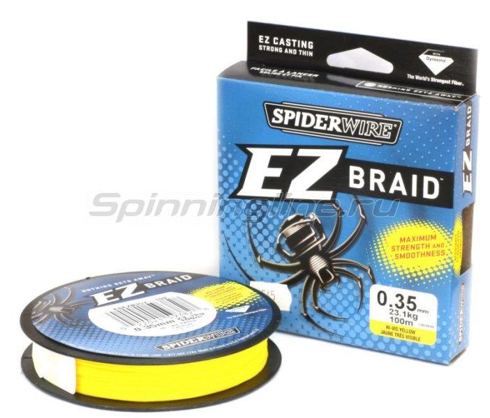 Шнур EZ Braid 100м 0,30мм Yellow -  1