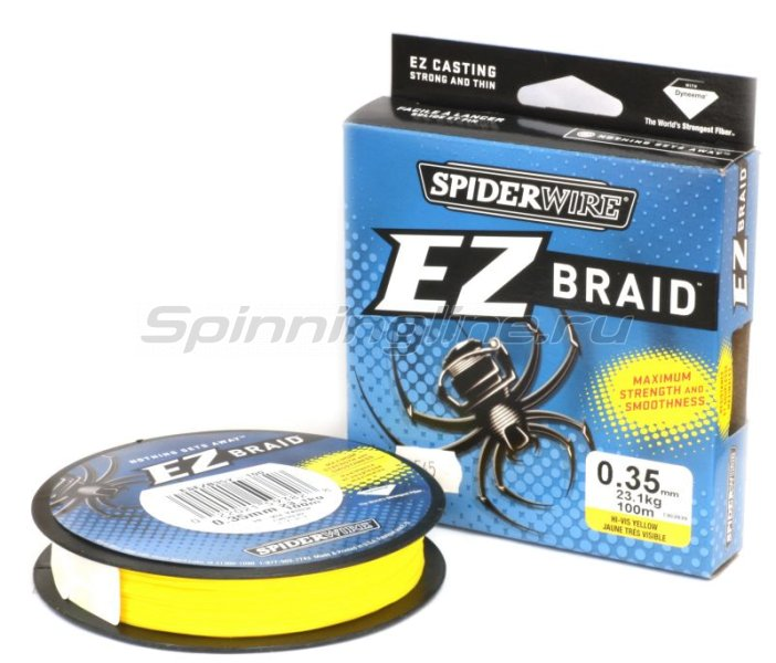 Spiderwire - Шнур EZ Braid 100м 0,12мм Yellow - фотография 1