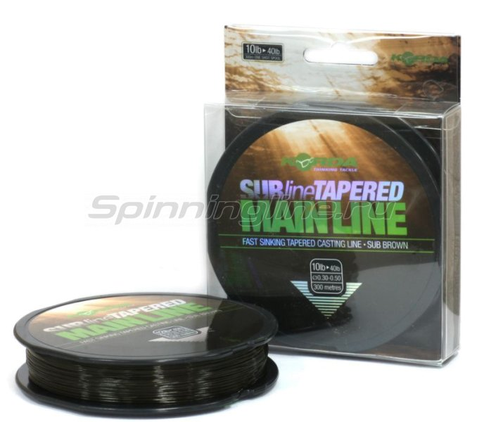 Леска Korda Subline Tapered Mainline 300м 0,33-0,50мм - фотография 1
