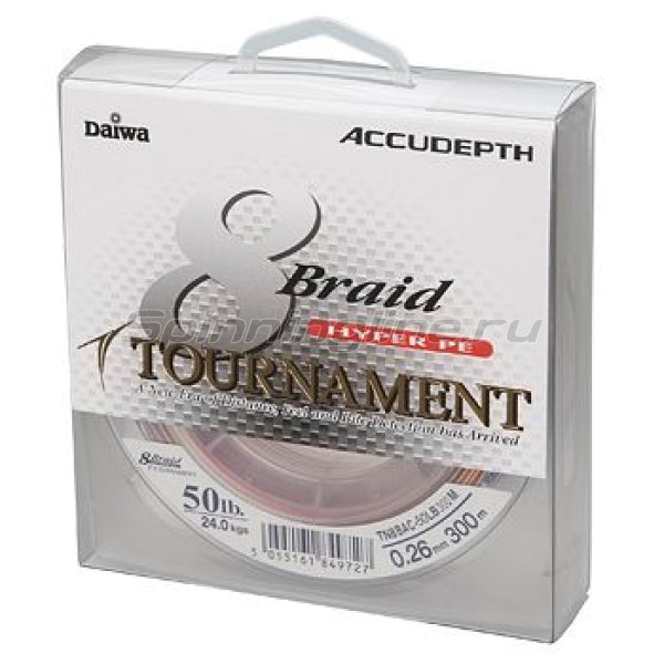 Daiwa - Шнур Tournament 8xBraid Multi Color 300м 0.26мм - фотография 1