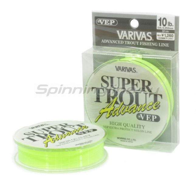 Varivas - Леска Super Trout Advance VEP Nylon 91м 0,177мм - фотография 1