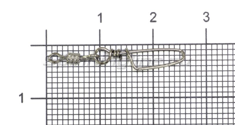Вертлюг цилиндр с накаткой и застежкой Coastlock №10x00 -  1