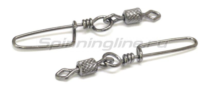 Вертлюг цилиндр с накаткой и застежкой Coastlock №10x00 -  2