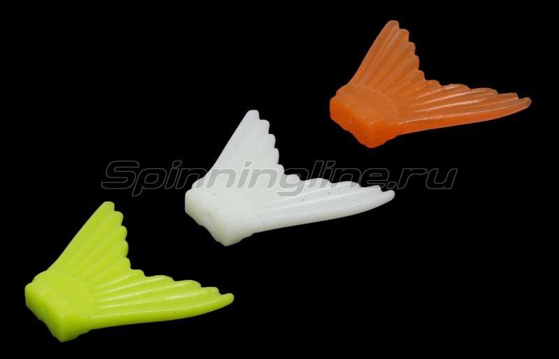 Хвост для воблера Strike Pro Glider 105 желтый, оранжевый, белый светящ. - фотография 1