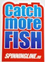 Наклейка Spiningline.ru Catch more Fish р.S