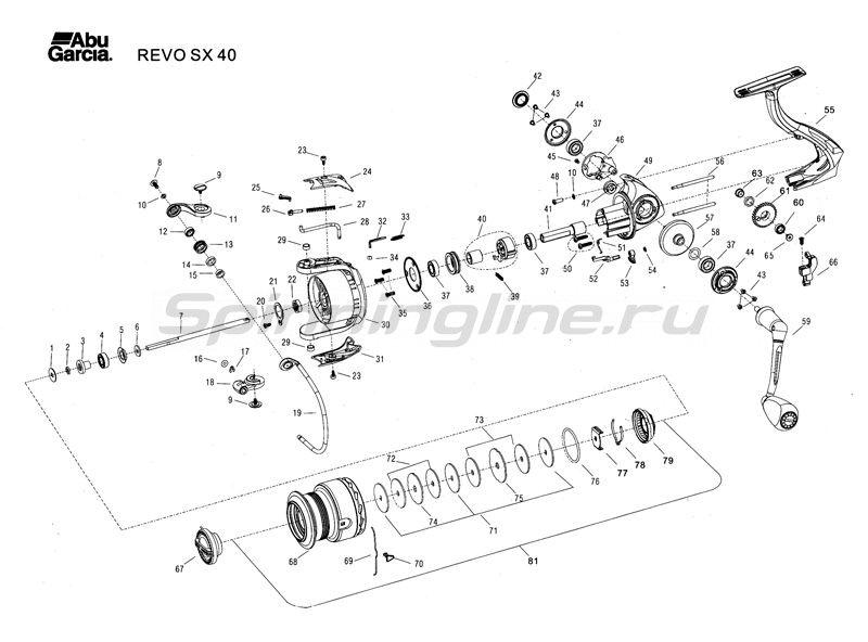 Abu Garcia - Катушка Revo SX 40 - фотография 3