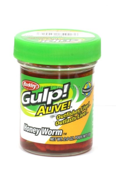 Berkley - Приманка Gulp Alive Honey Worms red - фотография 1