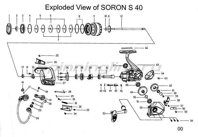 Abu Garcia - Катушка Soron S40 - фотография 3