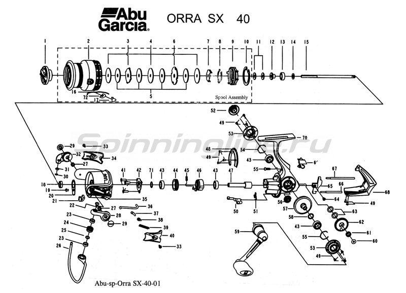Abu Garcia - Катушка Orra SX 40 - фотография 3