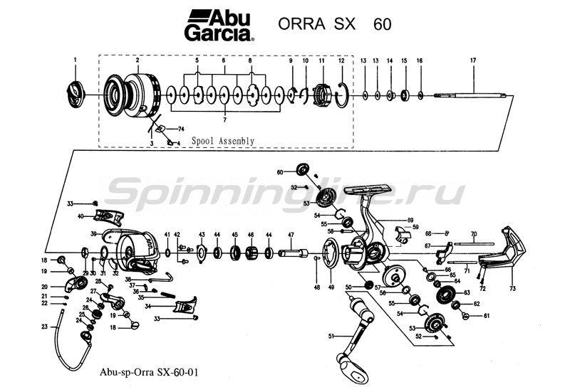 Abu Garcia - Катушка Orra SX 60 - фотография 3