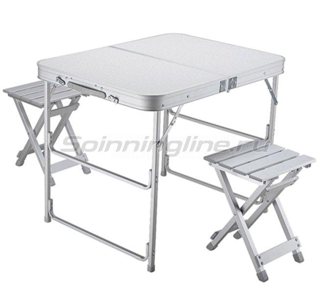 Набор стол складной Norfin Boren NF + 2 стула - фотография 1