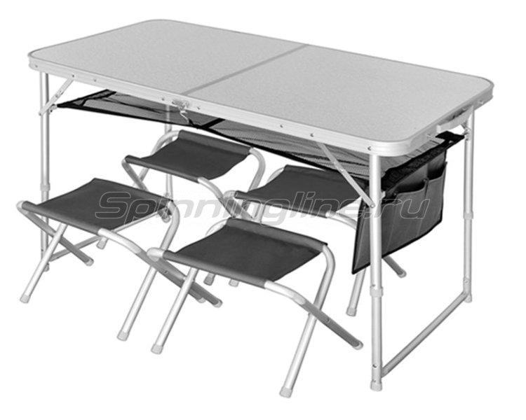 Набор стол складной Norfin Runn NF + 4 стула - фотография 1
