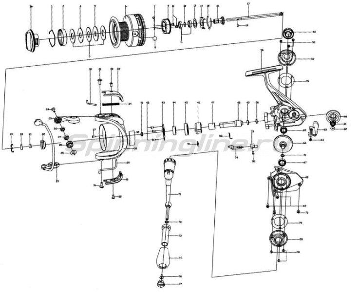 Катушка Stinger Aggregate SF 2500 -  7