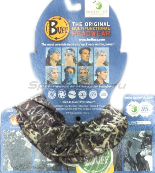 ������� Buff Angler Insect Shield UV Buff BF Turtle Grass - ���������� 1