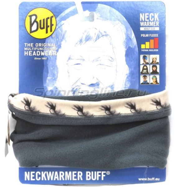 Шарф-маска Buff Angler Neckwarmer wooly bugger - фотография 1
