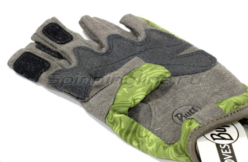 Перчатки Buff Angler Gloves Skoolin Sage L-XL -  2