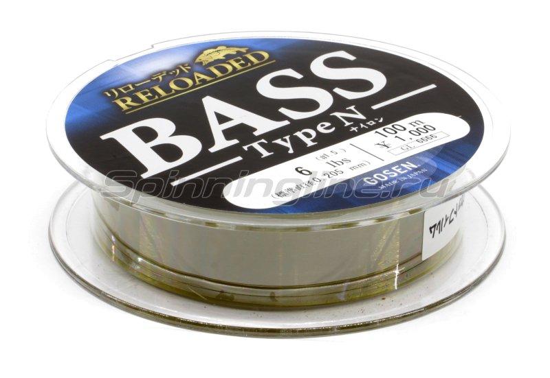 Леска Reloaded Bass Type N 100м 0,185мм -  2