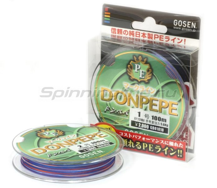 Gosen - Шнур Donpepe Markline PE 100м 2 - фотография 1