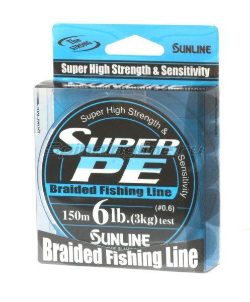 Sunline - Шнур Super PE 150м 0.6 blue - фотография 1
