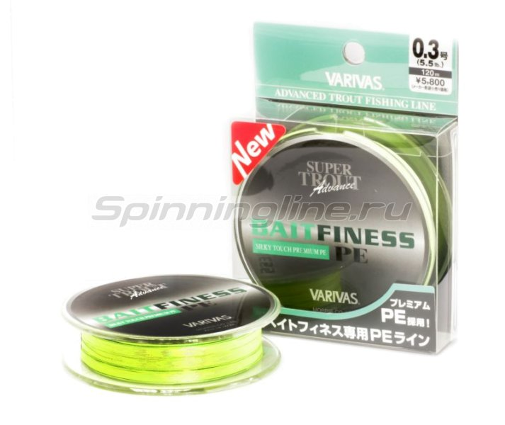 Varivas - Шнур Super Trout Bait Finess PE 120м 0.5 - фотография 1