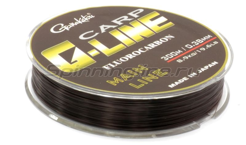 Gamakatsu - Флюорокарбон Carp Fluorocarbon Dark Brown 300м 0.38мм - фотография 2