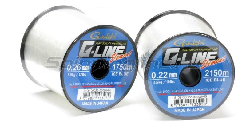 Леска G-Line Element Ice Blue 1750м 0,26мм -  1