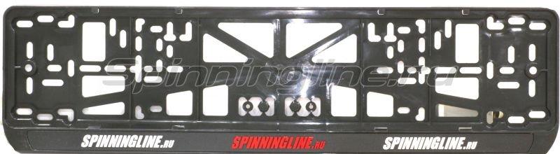 Рамка номерного знака Spinningline черная - фотография 1