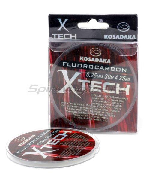 Флюорокарбон X-Tech 30м 0,21мм -  1