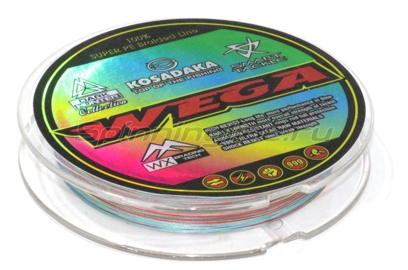 Шнур Wega 130м 0,03мм multicolor -  2