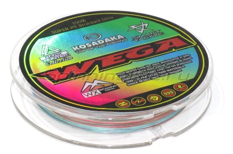 Kosadaka - Шнур Wega 130м 0,15мм multicolor - фотография 2