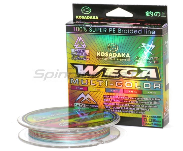 Kosadaka - Шнур Wega 130м 0,18мм multicolor - фотография 1
