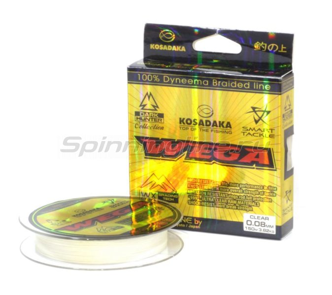 Шнур Wega 150м 0,03мм clear -  1