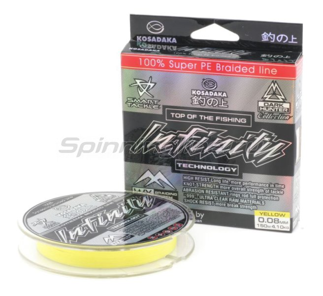 Шнур Infinity 110м 0,08мм yellow -  1