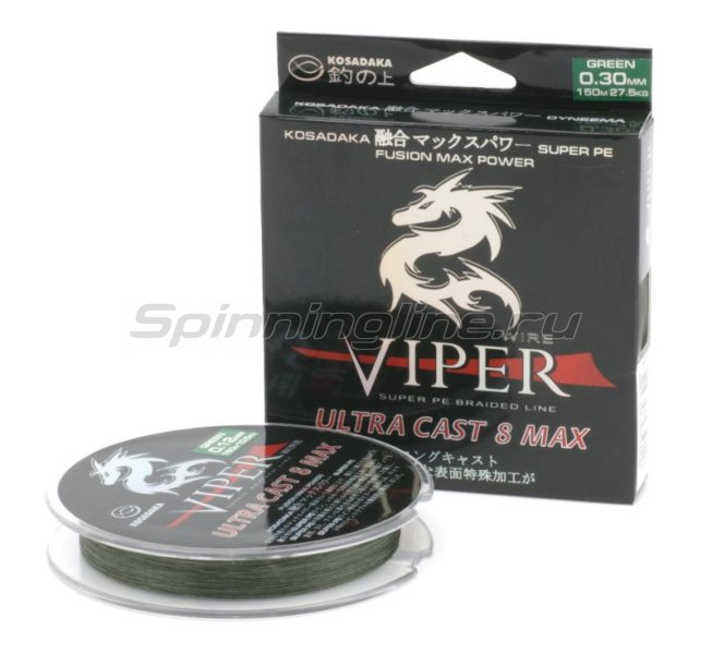 Kosadaka - Шнур Viper Ultracast 8 Max 150м 0,14мм green - фотография 1