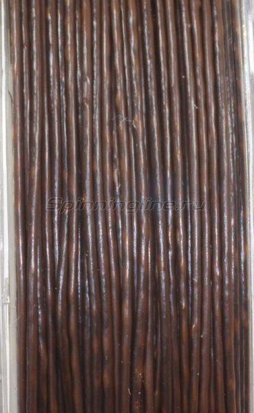Поводковый материал Mirage в оболочке 25м 25lb коричневый/черный -  3