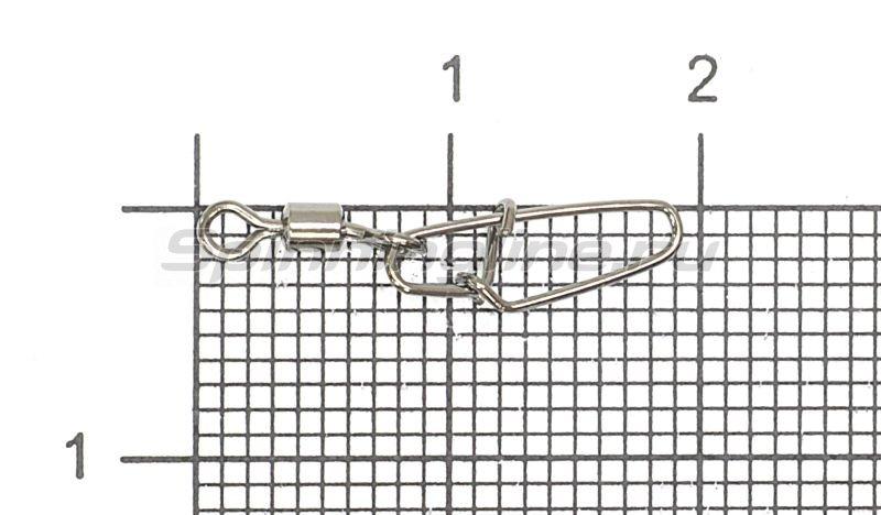 Вертлюг с карабином Super Hooked Snap №10 -  1