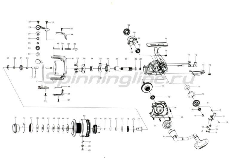 Катушка Absolut Pro 4000F -  5