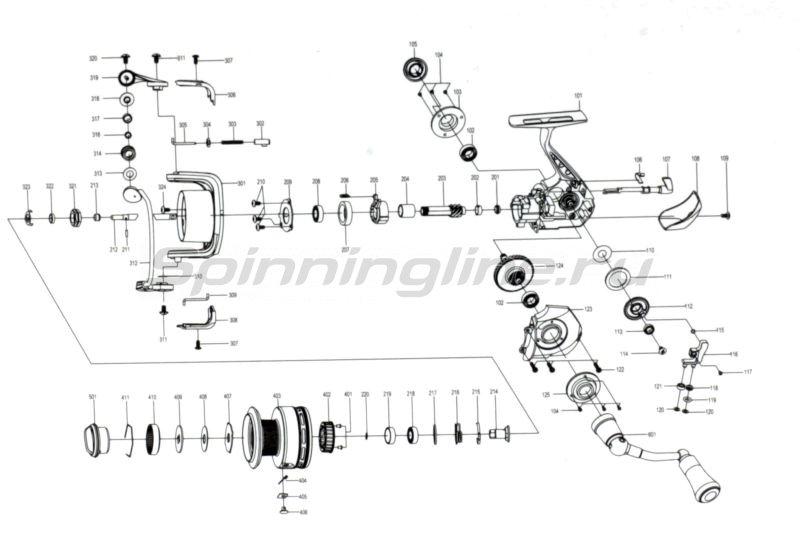 Катушка Absolut Sport 1500F -  5