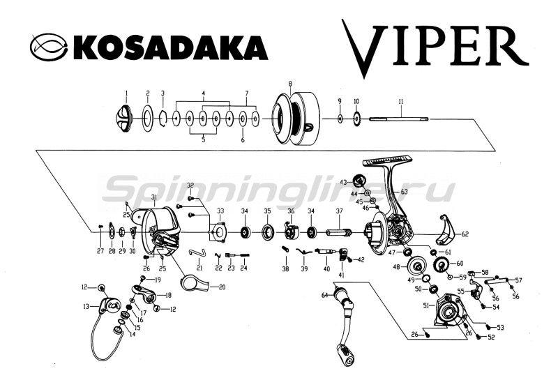 Kosadaka - Катушка Viper 2000 LC - фотография 7