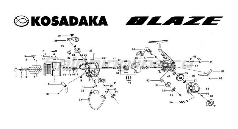 Катушка Kosadaka Blaze 750 -  6